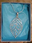 Silver Leaf Design Pendant