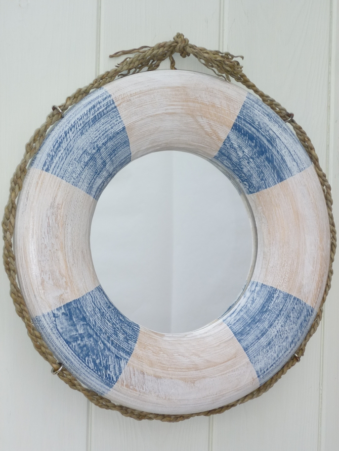 Wooden Nautical Mirror