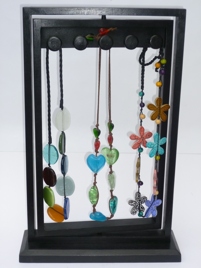 Wooden Necklace Display Stand