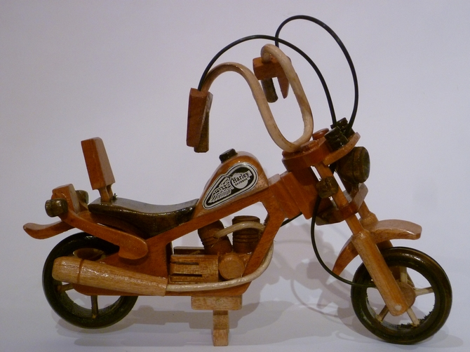Miniature Wooden Harley Davidson Motorbike (s)