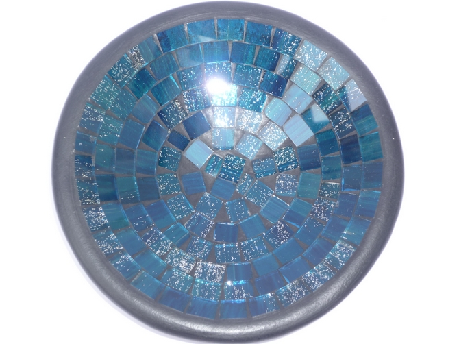 Round Blue Mosaic Bowl