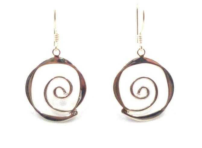Sterling Silver Eternity Earrings