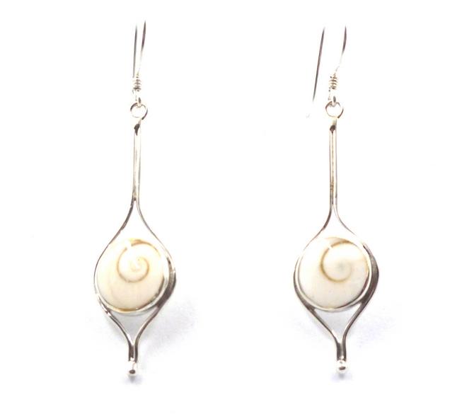 Sterling Silver Shiva Shell Earrings