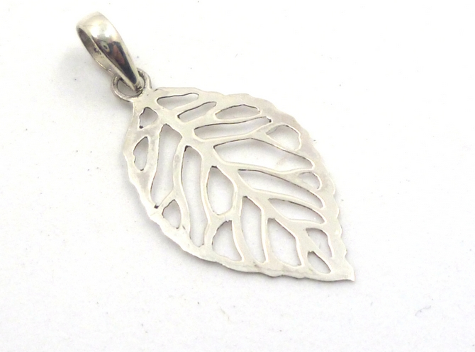 Sterling Silver Leaf Pendant (s)