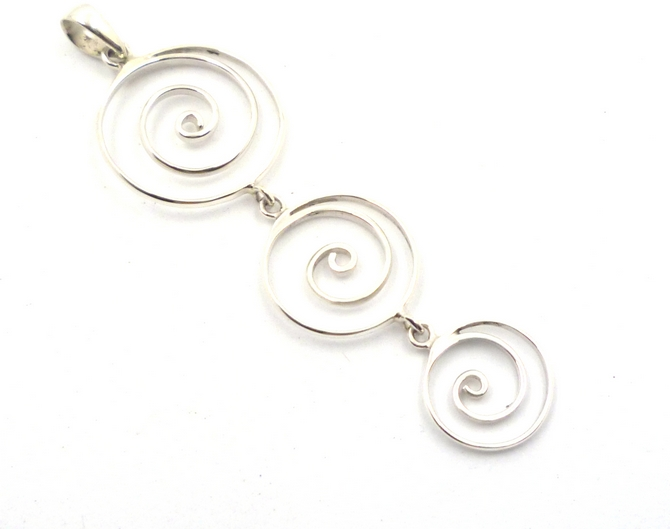 Sterling Silver Spiral Discs Pendant