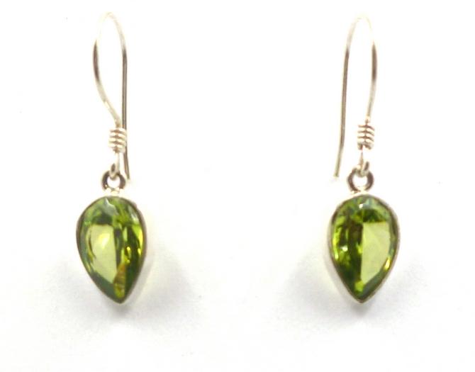 Peridot or Amethyst Drop Earrings