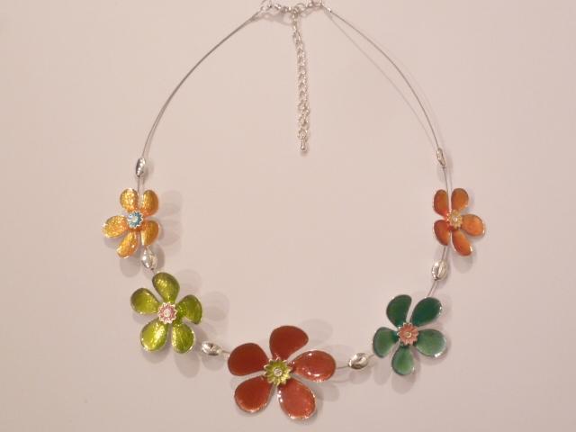 Multi Coloured Daisy Necklace