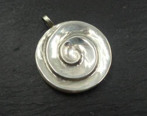 Sterling Silver Shell Spiral Pendant