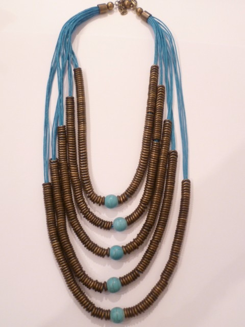 Layered Turquoise Bead Necklace