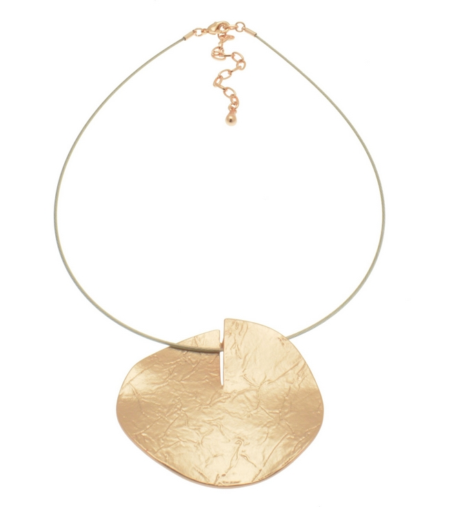 Rose Gold or Silver Disc Necklace