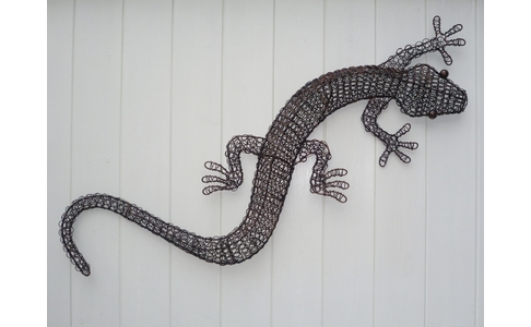 Wire Metal Gecko Wall Hanging
