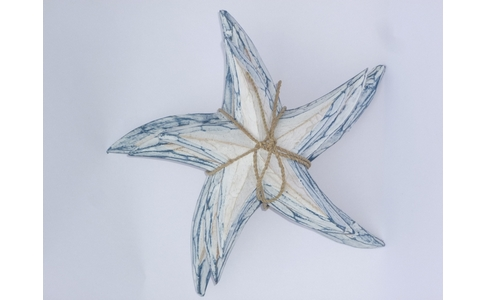 Set Of 3 Wooden Starfish