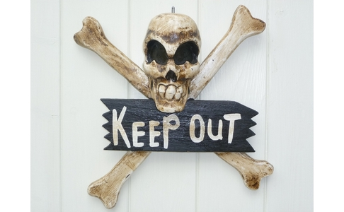 Skull & Crossbones Keep Out Sign