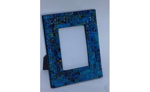 Turquoise Mosaic Tile Photo Frame