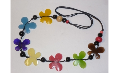 Multi Coloured Butterfly Necklace