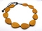 Mustard Teardrop Wood Necklace