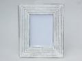 Vintage White Washed Wooden Photo Frame