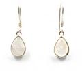 Labradorite / Moonstone Sterling Silver Teardrop Earrings