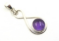 Figure of 8 Sterling Silver Pendant with Moonstone or Amethyst