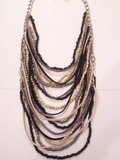 Layered Bead & Leather Necklace