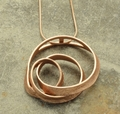 Rose Gold Swirl Necklace
