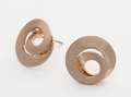 Rose Gold Swirl Earrings