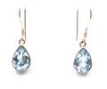 Sterling Silver Teardrop Earrings with Amethyst, Moonstone, Blue Topaz or Peridot Gemstones