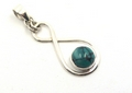 Figure of 8 Sterling Silver Pendant with Moonstone, Amethyst, Turquoise or Blue Topaz Gemstones