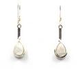 Long Teardrop Sterling Silver Earrings with Mixed Stones