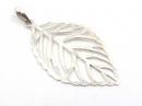 Silver Leaf Pendant (L)